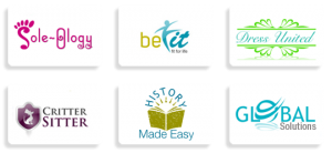 Exemples de logos réalisés avec Logo Garden