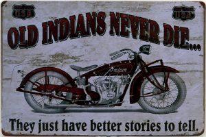Plaque métal old indians