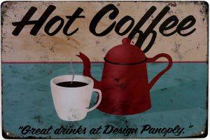 plaque vintage café chaud