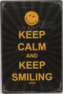plaque métal smile