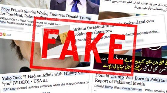Exemples de fake news sur Facebook